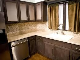 Dark Stain Kitchen Cabinets Diy Kitchen Cabinets Refacing Design Porter