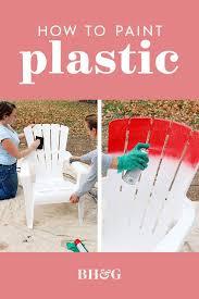 painting plastic furniture