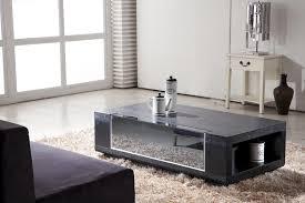 image of modern coffee table set black