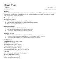 Internship Resume Sample For College Students Finance Internship