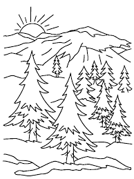 Small Picture Coloring Pages Mountains FunyColoring