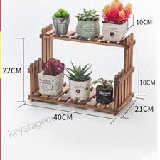 qzp flower stand 2 tiered ladder wooden garden display shelves balcony living room shelf plant flower