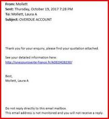 Overdue Account Its Phishing Notification Overdue Account Information Technology