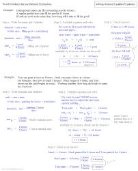 solving rational equations word problems solving ration expressions