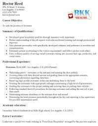 Best Solutions Of Doorman Resume On Description Huanyii Com