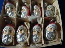 Details Zu 8 Seltene Alte Weihnachtsmannköpfe Um 1920 Als Christbaumschmuck49