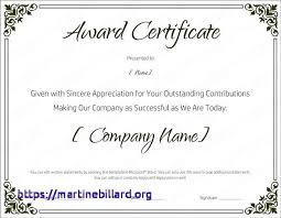 Certification Template Word Certificate Of Achievement Template Word