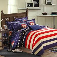 navy blue white and red american flag the star and the stripes personalized traditional full queen size 100 brushed cotton bedding sets