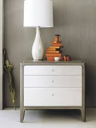 Barbara Barry Soft Corner Bedside Chest and Swan Line Table Lamp