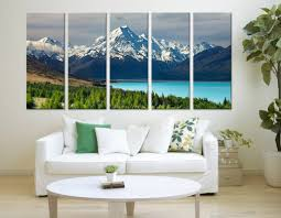 large art print mount cook new zealand wall art canvas print lake and mountains on extra large wall art nz with large art print mount cook new zealand wall art canvas print lake