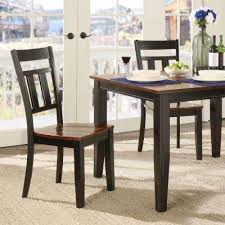 cherry hill rich cherry and black wood dining chair set of 2