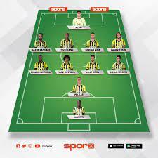 Fenerbahçe-Kasımpaşa Fenerbahçe ilk 11 Sporx İlk11