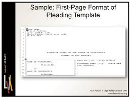 Pleading Template California Microsoft Word Legal Pleading Template Thefreedl