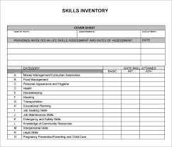 format of inventory sample skills inventory template 12 free documents download in pdf
