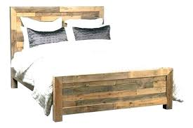 Distressed Wood Bed Frame Shown May Not Represent Size Indicated ...