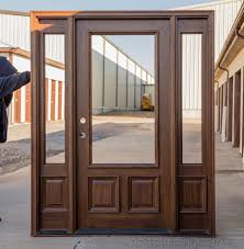 double front door with sidelights. Half-lite Solid Mahogany Doors CL-N200-F35 - Your Choice Of Glass Double Front Door With Sidelights S