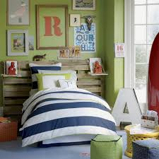 Kids Bedroom Bedding Kids Bedroom Striped Bedding With Unique Headboard Plus Green