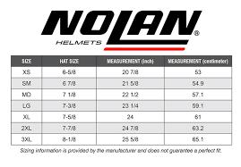 Shoei Nxr Size Chart Nolan Size Chart Sydney City Motorcycles