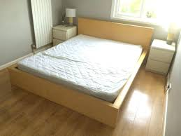 malm ikea bed bedroom simple king size bed with comfy bedding set between small nightstands plus malm ikea bed