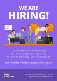 Poster The Office Purple Office Illustration Recruitment Business Poster Templates