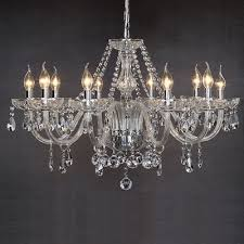 marie therese 10 light clear crystal glass ceiling light pendant lamp chandelier