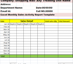 Sales Activity Report Template Excel Necessary 21 Team
