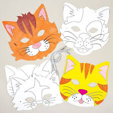 Card Masks To Decorate Cat Animals Colorin Card Mask Craft Kits for Children to Make 27