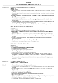 Family Advocate Resume Sample Health Advocate Resume Samples Velvet Jobs 10