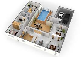 4 Bedroom Bungalow Floor Plans 3d Images Luxury Apartment Plan About House  On With Outstanding Four 2018