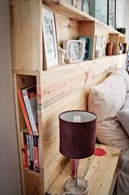 diy pallet headboard with shelves pallets ikea decora