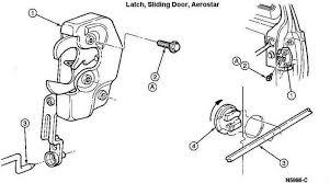 car door latch assembly. Aerostar Sliding Door Latch Assembly 264A32 . Car O