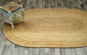 more views casuals natural fibers oval jute braided area rug carpet durable new round hand tundra oval jute rug organic