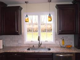 Over Kitchen Sink Light Kitchen Amazing Hanging Pendant Lights Over Kitchen Sink With