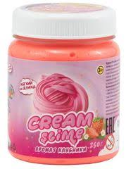 """<b>Слайм</b> """"<b>Slime</b>"""" <b>Cream</b>-<b>Slime</b> с ароматом клубники, <b>250 гр</b> (SF02-S ..."""