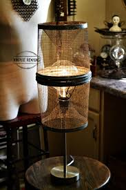 Diy Light Trap Vintage Remains Re Purposed Minnow Trap Lamp With Extra