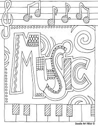 Musically Coloring Pages Printable Coloring For Kids 2019