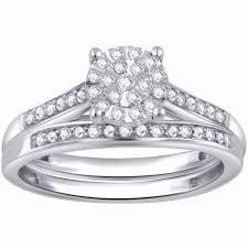 kays wedding rings lovely carat t w diamond sterling silver posite bridal set of kays wedding rings