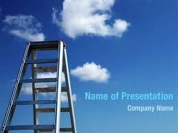 Ladder To Sky Powerpoint Templates Ladder To Sky