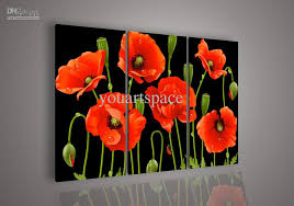 2018 wall art no framed modern abstract acrylic flower red poppy oil painting on canvas paintings from youartspace 43 19 dhgate com