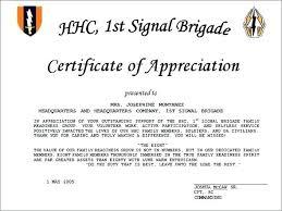 Certificate Of Appreciation Volunteer Work Certificate Of Ciation Sa For Guest Speaker Volunteer