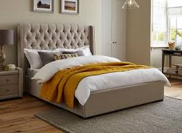 Deacon Fabric Upholstered Bed Frame | Upholstered Beds | Beds ...