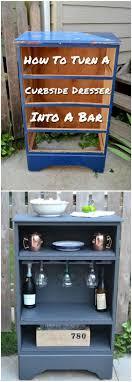 diy repurposed furniture. Turn A Curbside Dresser Into Bar Diy Repurposed Furniture