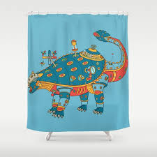 Cool shower curtains for kids Ocean Dinosaur Cool Wall Art For Kids And Adults Alike Shower Curtain Society6 Dinosaur Cool Wall Art For Kids And Adults Alike Shower Curtain By