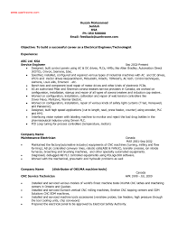 Electrical Technician Resume Sample Resume Sample For Electrical Diploma Holder Refrence Electrical 33