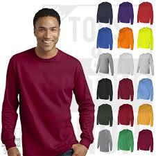 Details About Gildan Mens Crew Neck Heavy Cotton Long Sleeve T Shirt Basic Tee S 3xl 5400