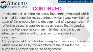 reflective essay on teamwork continued 6