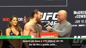 UFC, il faccia a faccia tra McGregor e Cerrone al peso