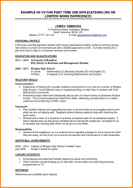 How To Write Resume For Retail Job How To Write Resume For Part Time Retail Job Make Student With No 35