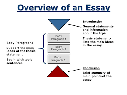 organizing an academic essay introduction conclusion body  2 overview of an essay body