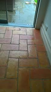 terracotta kitchen floor tiles in bristol before cleaning